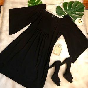 Tiana B boatneck empire waist, bat sleeve dress!
